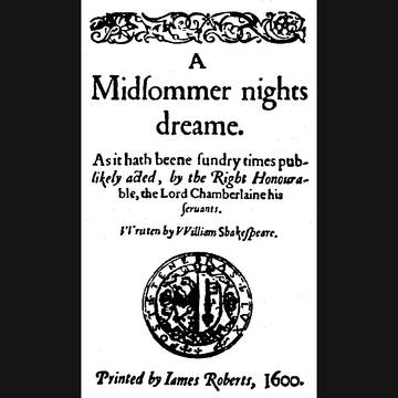 (A Midsommer nights dreame)