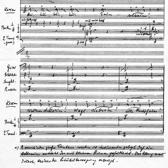 (Page of autograph score with Witches' scene)
