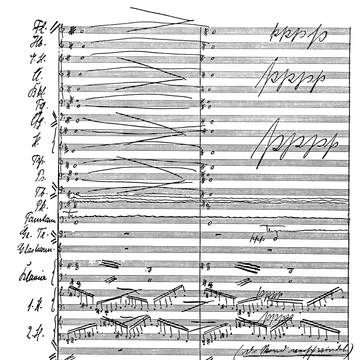 »I considered conventional counterpoint and the composition of sonatas and fugues according to scholarly models as a complete waste of time [...]. My timetable and tuition seemed so far apart from my musical imagination and intentions that I could not imagine that I would gain sympathetic help for my work and concepts.«[4] (page of autograph score of ›Gisei‹, op.20)
