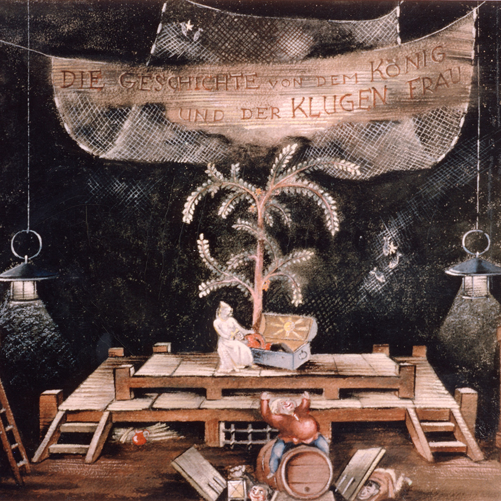 (Stage design for the first performance by Helmut Jürgens, Frankfurt am Main 1943)