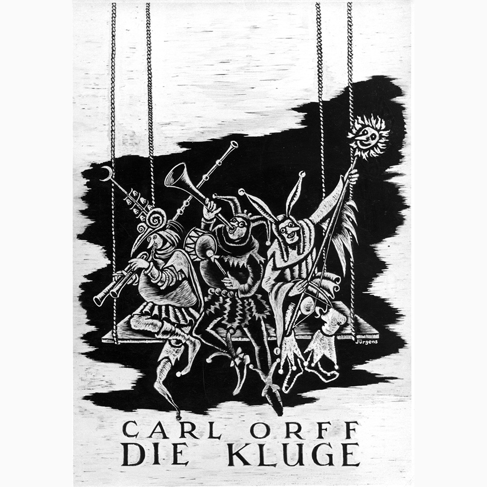 (Poster by Helmut Jürgens for the first performance 1943)